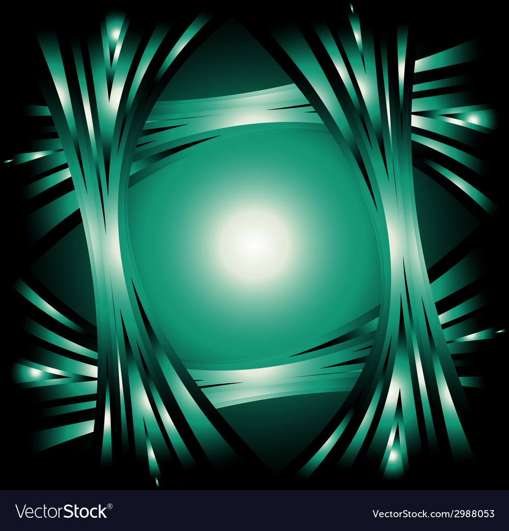 Dark green abstract wave background vector | Price: 1 Credit (USD $1)