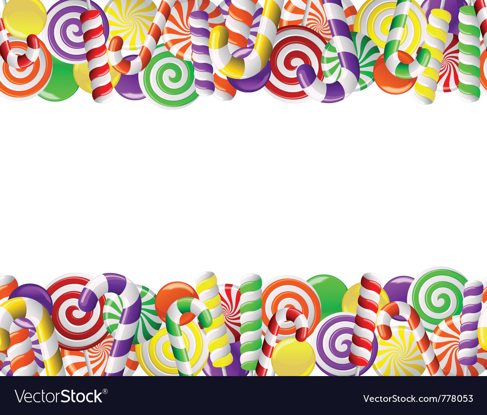 Frame made of colorful candies vector | Price: 1 Credit (USD $1)