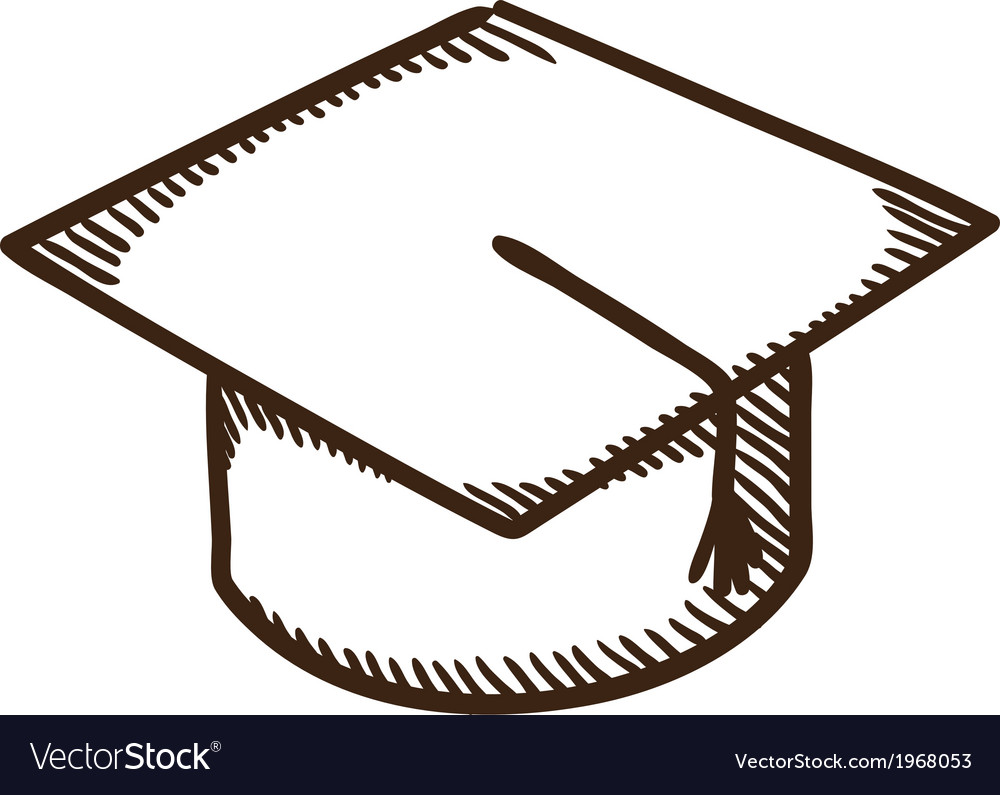 Graduation cap education symbol vector | Price: 1 Credit (USD $1)