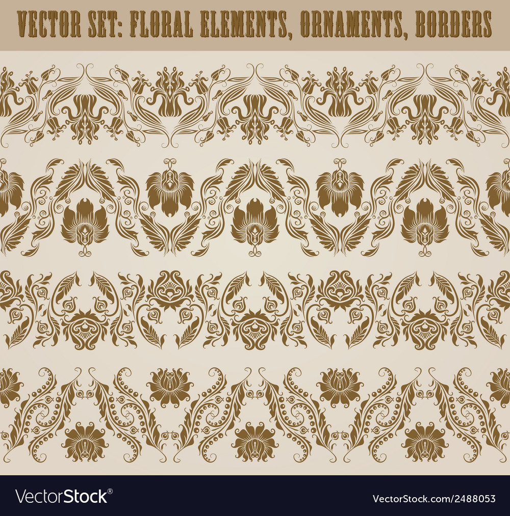 Horizontal elements decoration vector | Price: 1 Credit (USD $1)