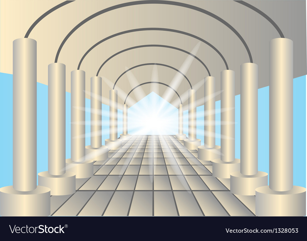 Light in the end of tunnel vector | Price: 1 Credit (USD $1)