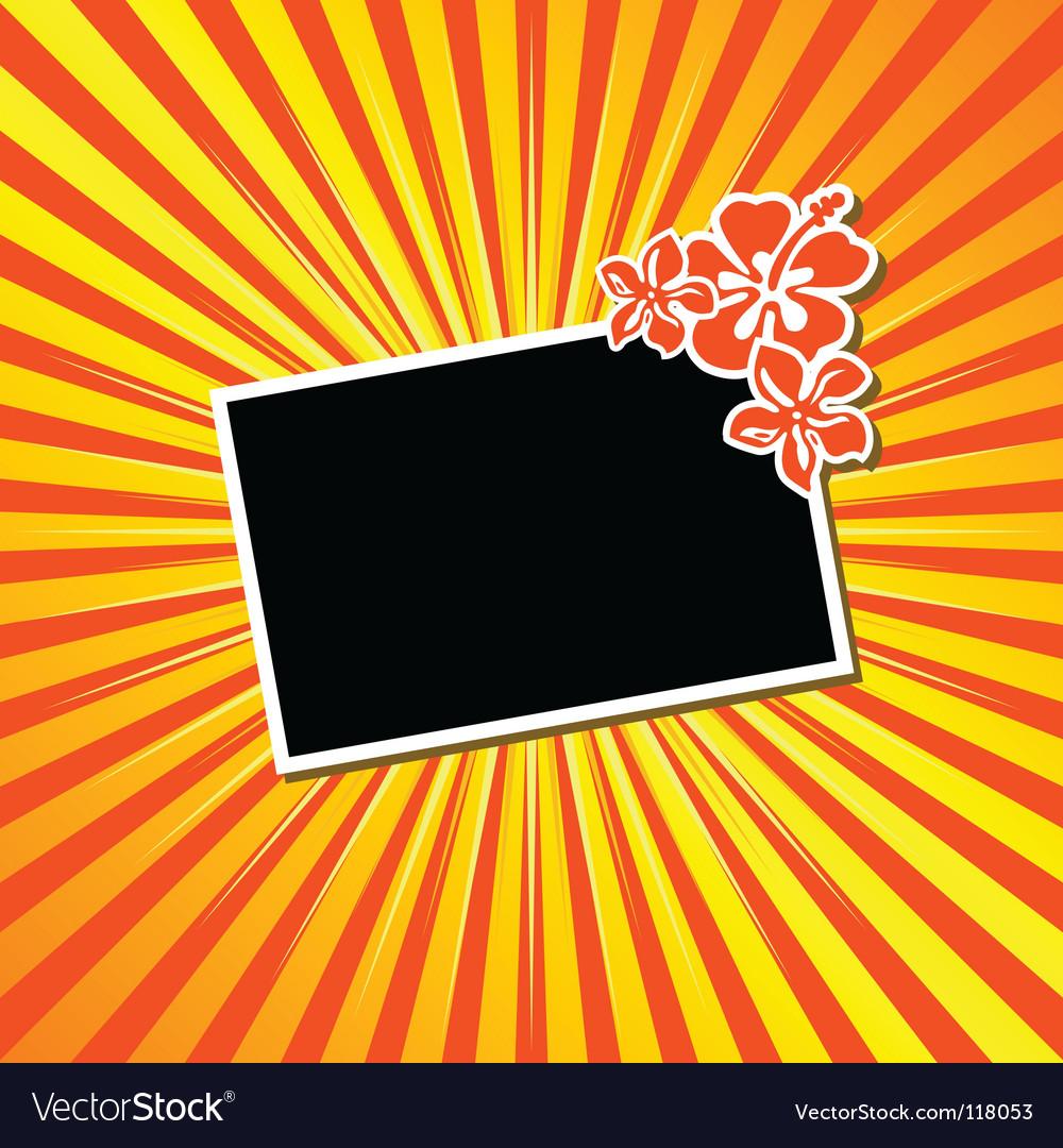 Sunburst with frame vector | Price: 1 Credit (USD $1)