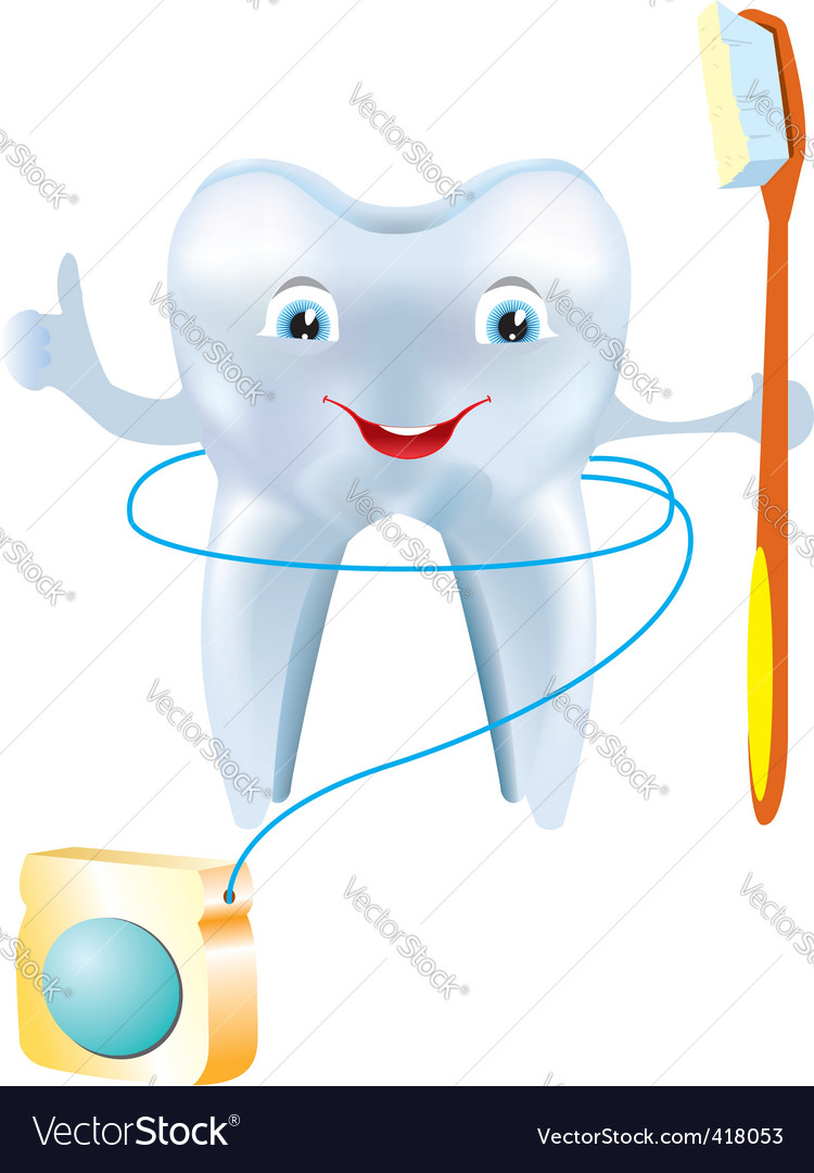 Tooth floss vector | Price: 1 Credit (USD $1)