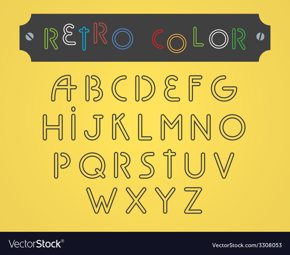 Type font vector | Price: 1 Credit (USD $1)
