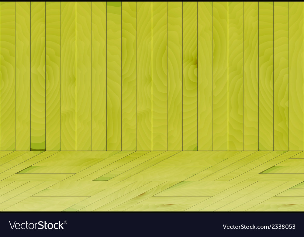 Wooden room with green wood vector | Price: 1 Credit (USD $1)