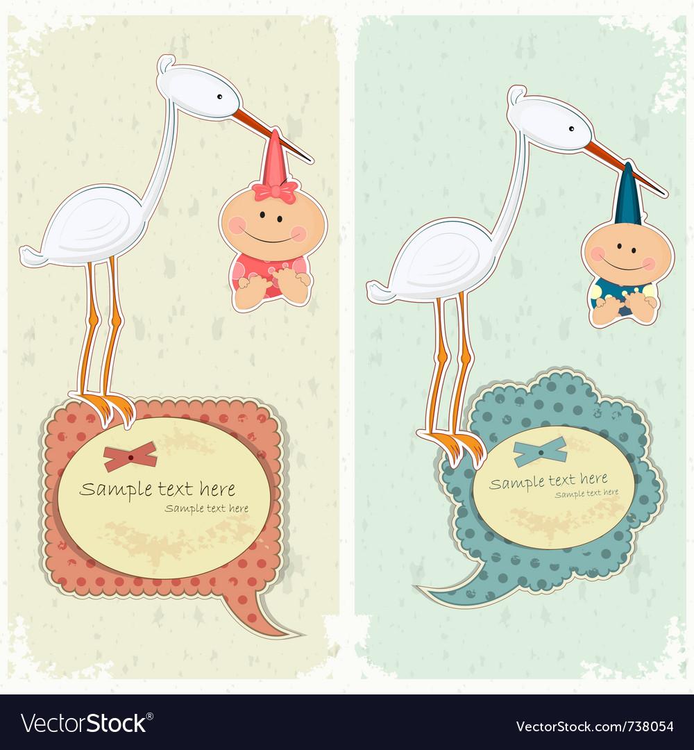 Baby postcard vector | Price: 3 Credit (USD $3)