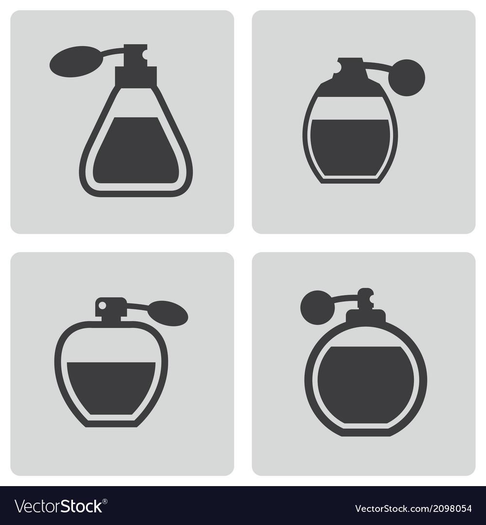 Black perfume icons set vector   Price: 1 Credit (USD $1)