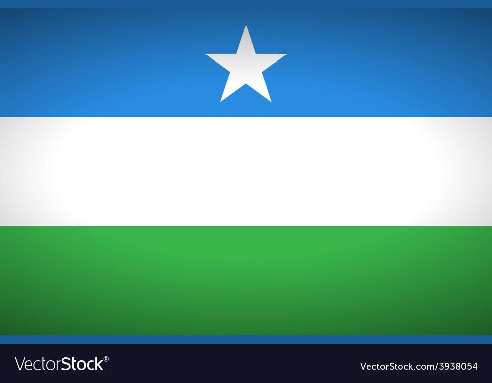 Flag of puntland vector | Price: 1 Credit (USD $1)