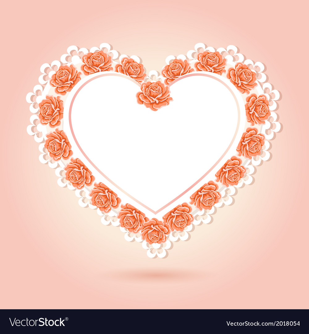 Greeting card with heart shape vector   Price: 1 Credit (USD $1)