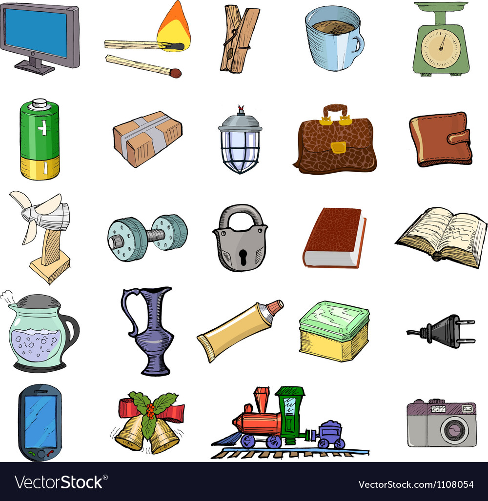 Home related objects vector | Price: 1 Credit (USD $1)