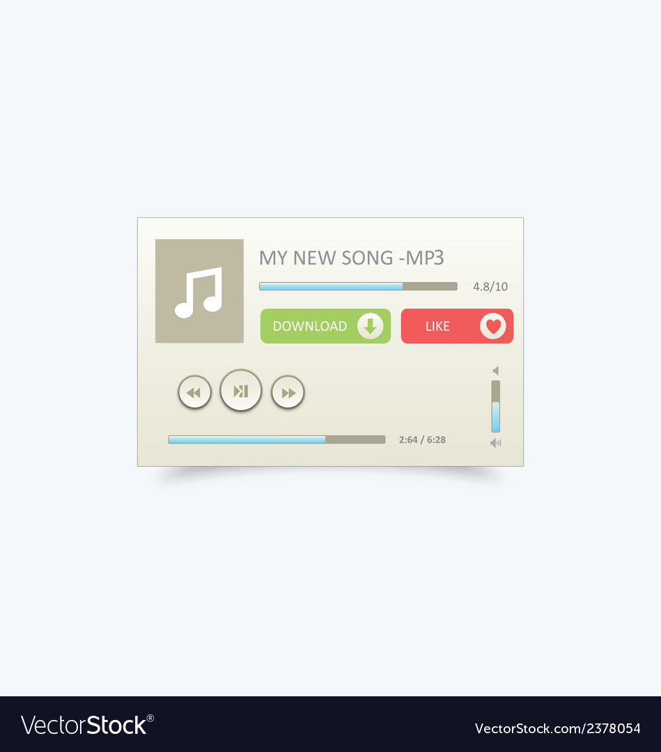 Music player 22 vector | Price: 1 Credit (USD $1)