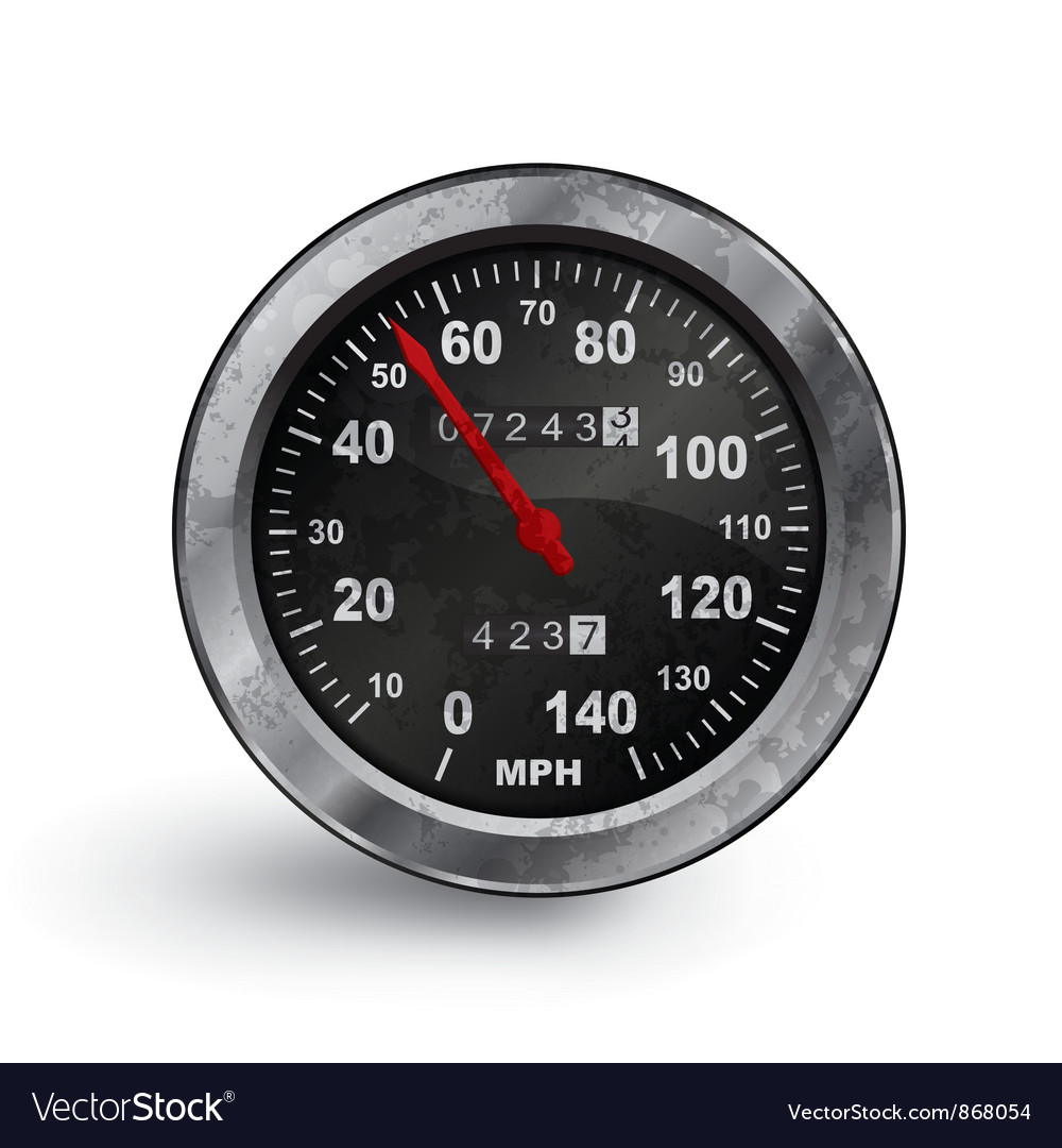 Old rusty speedo meter vector | Price: 1 Credit (USD $1)