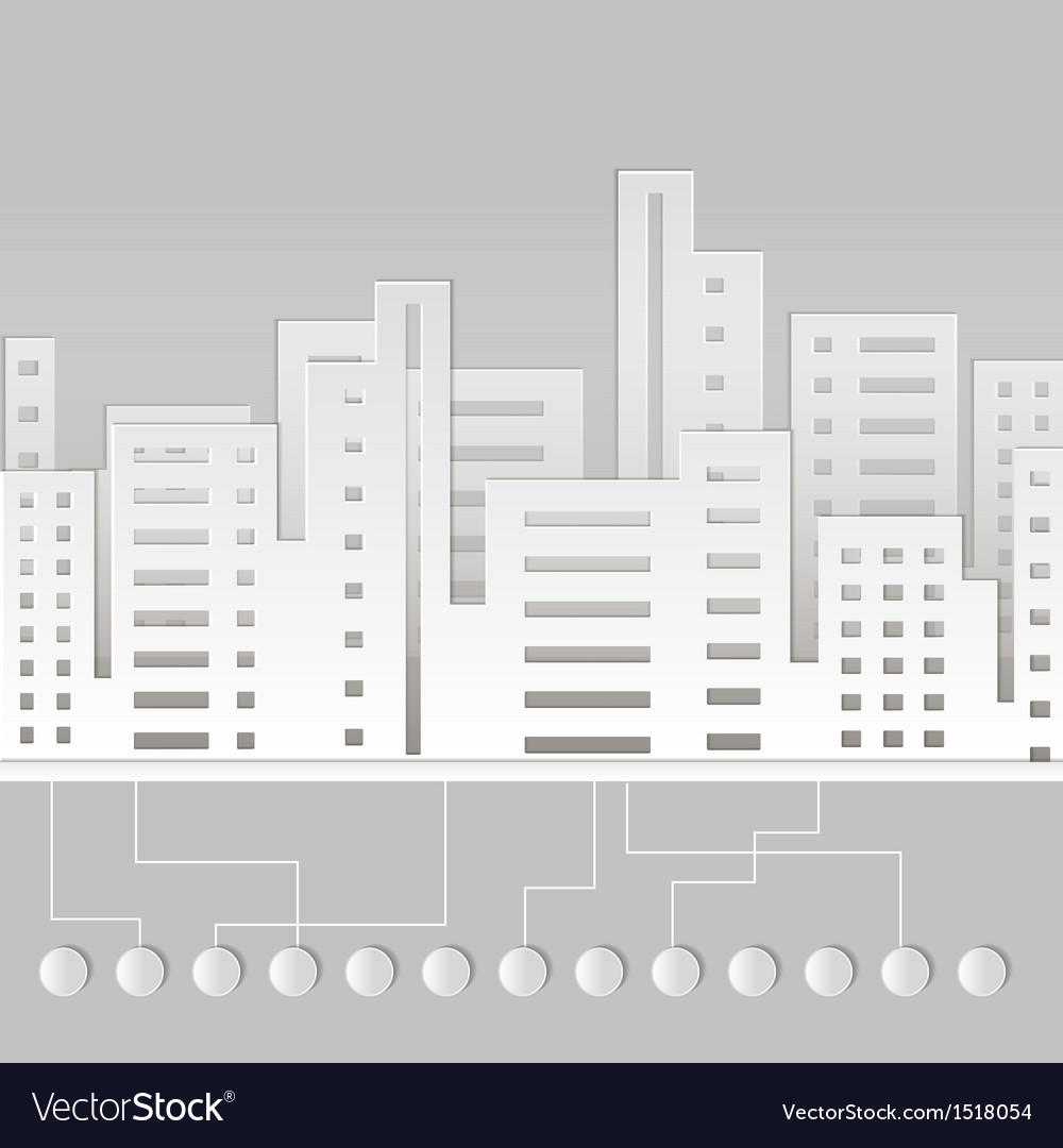 Paper city vector | Price: 1 Credit (USD $1)