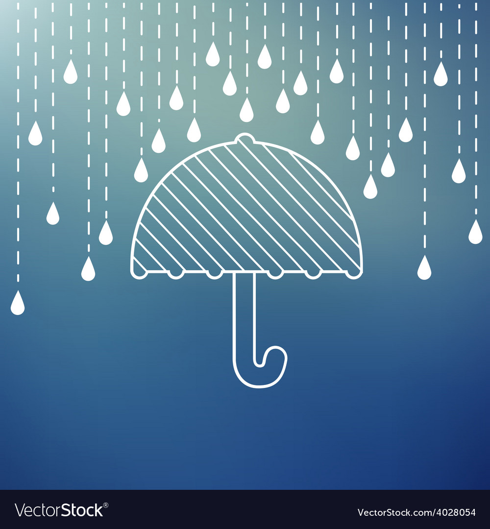 Raining on a umbrella vector | Price: 1 Credit (USD $1)