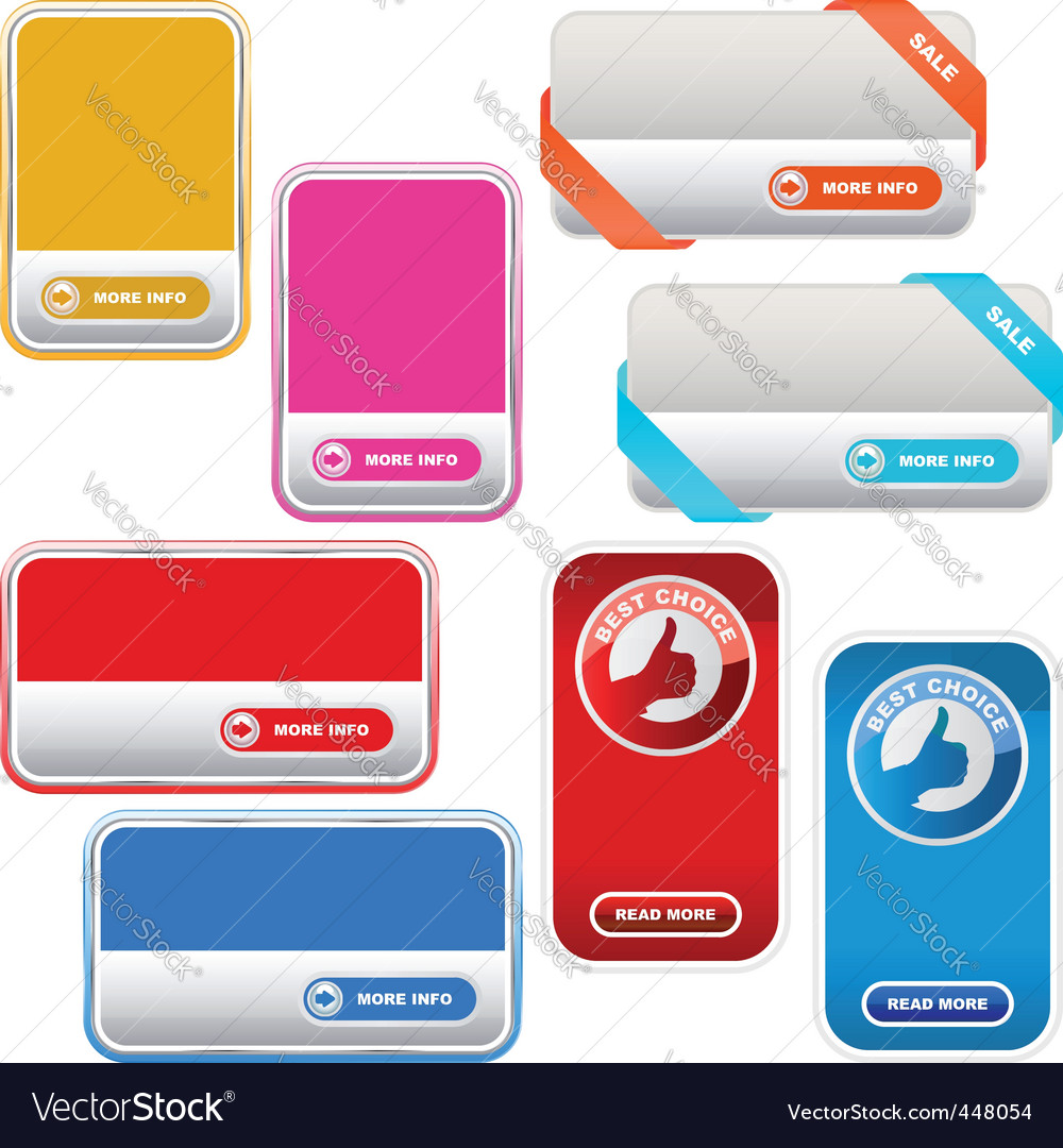Set of sale label vector | Price: 1 Credit (USD $1)