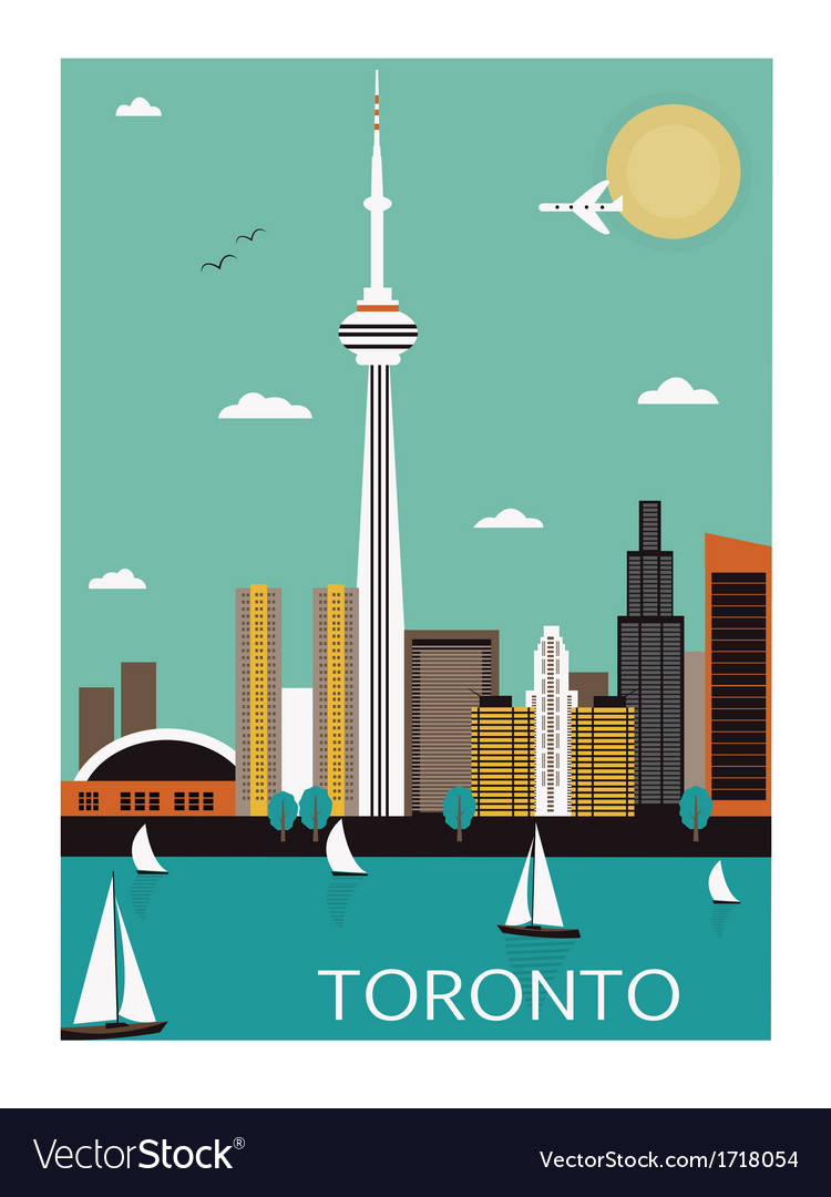 Toronto city vector | Price: 1 Credit (USD $1)