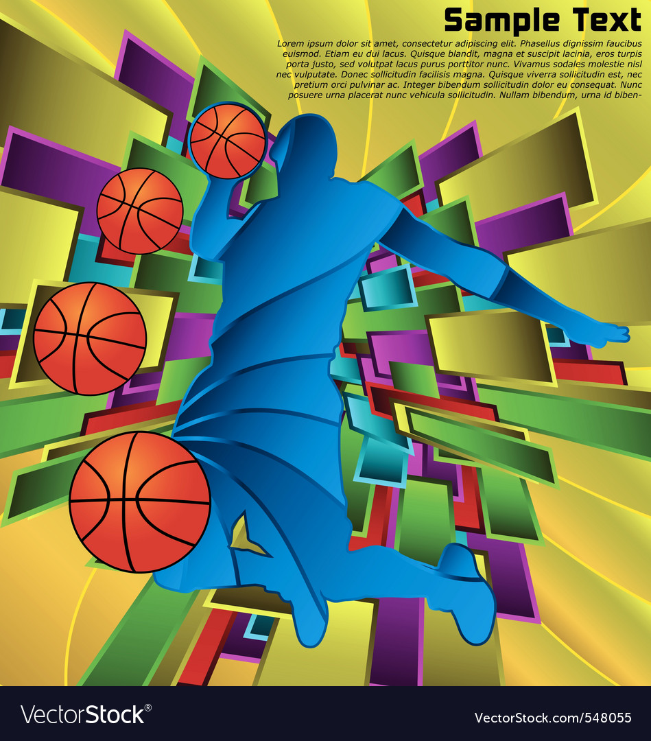 Abstract sport design basketball player vector | Price: 1 Credit (USD $1)