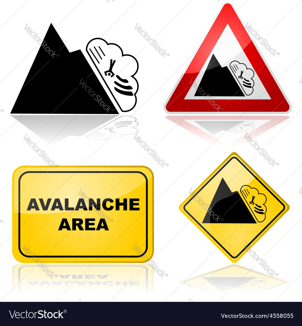 Avalanche signs vector | Price: 1 Credit (USD $1)