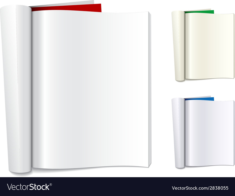 Blank folded magazines vector | Price: 1 Credit (USD $1)