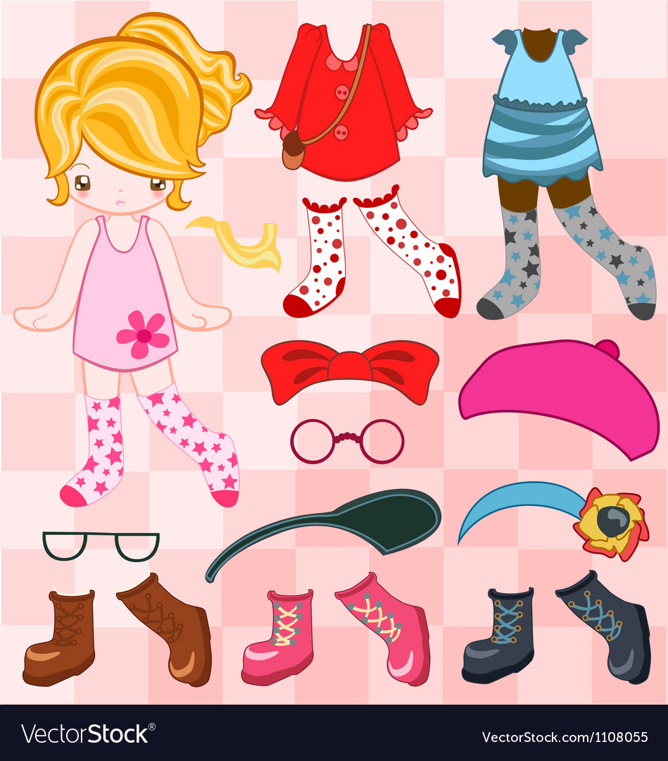Dress up cute look vector | Price: 1 Credit (USD $1)