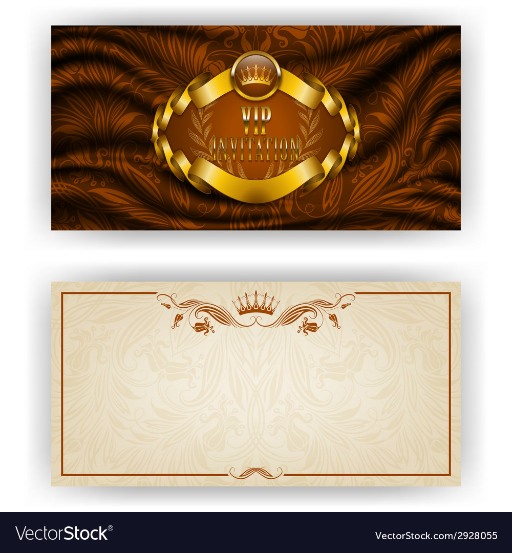 Elegant template for vip luxury invitation vector | Price: 1 Credit (USD $1)