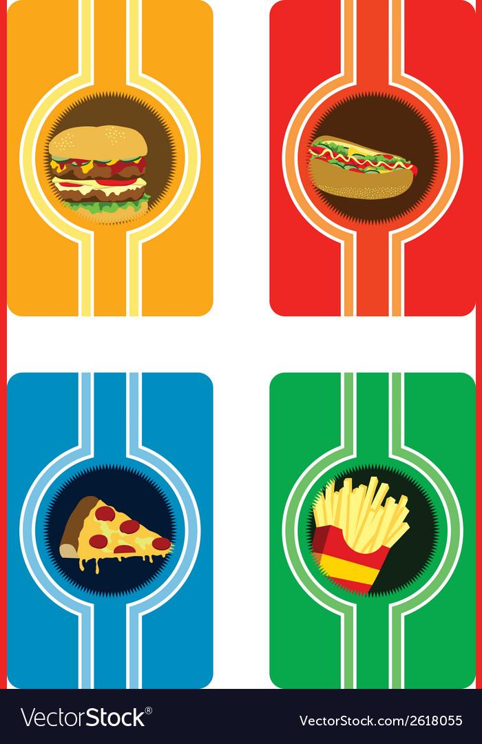 Fast food card vector