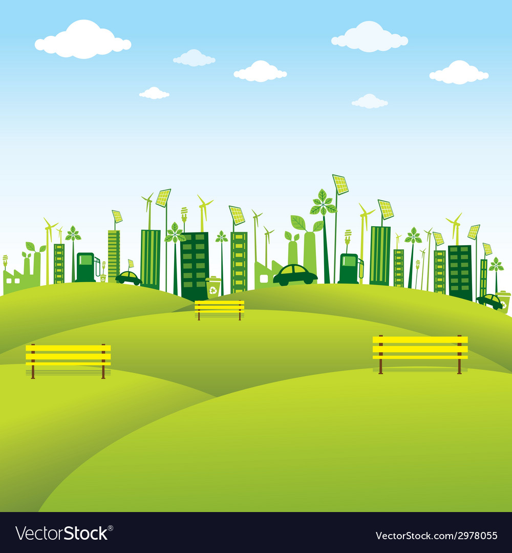Go green or save earth background concept vector | Price: 1 Credit (USD $1)