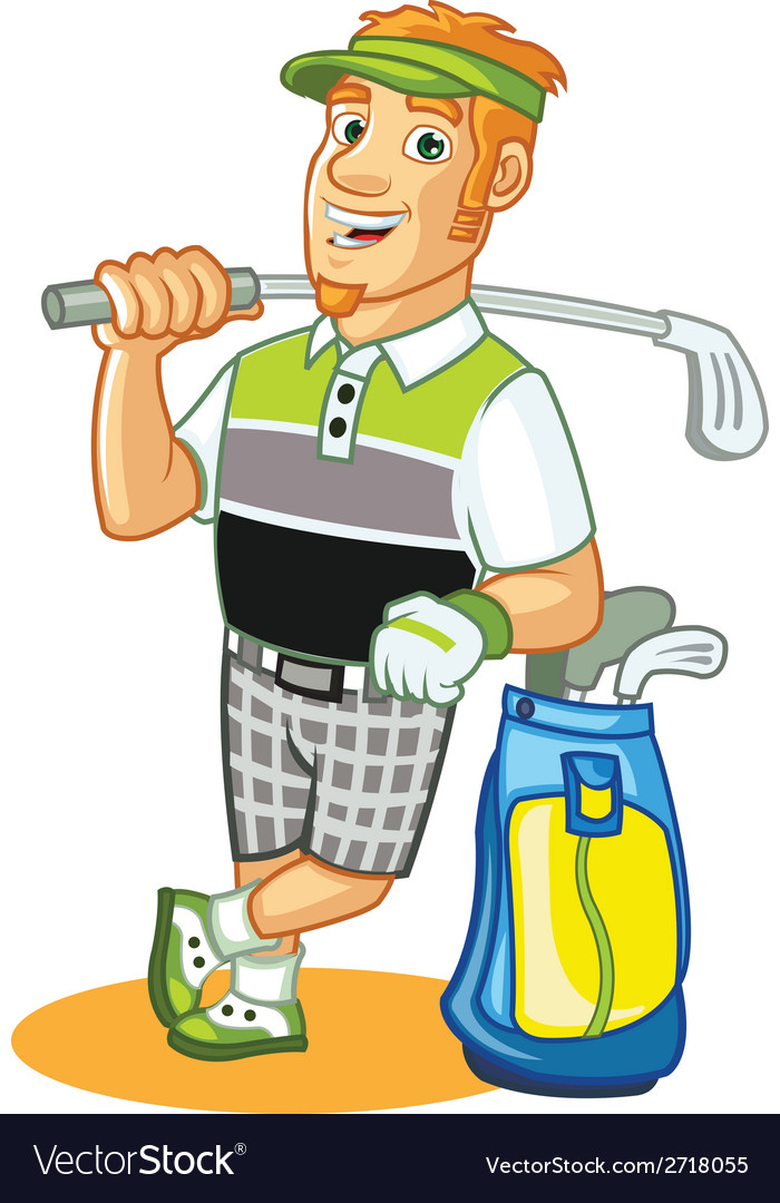 Golfer cartoon vector | Price: 1 Credit (USD $1)