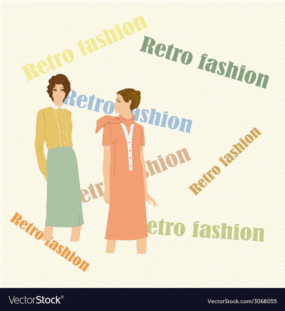Retro fashion vector | Price: 1 Credit (USD $1)