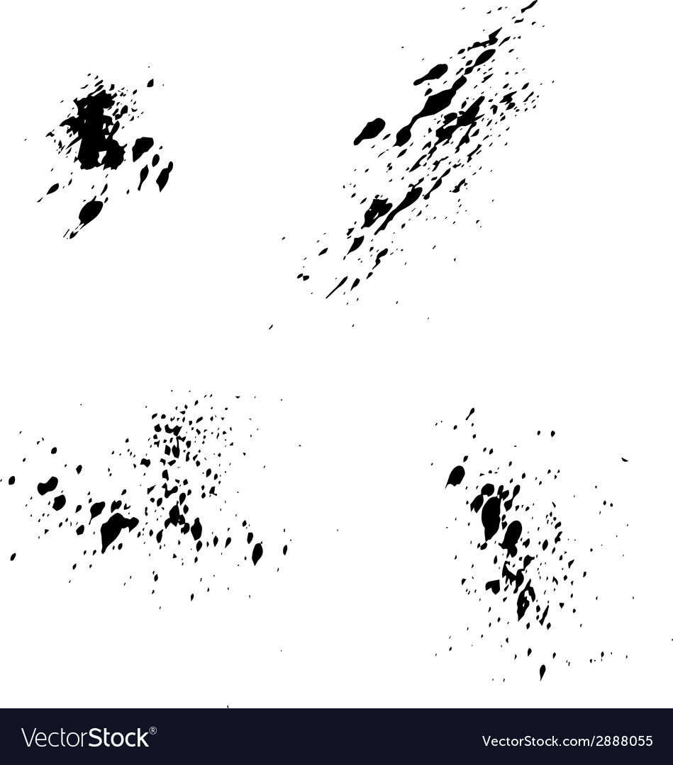 Set of black ink blots splash for grunge vector | Price: 1 Credit (USD $1)