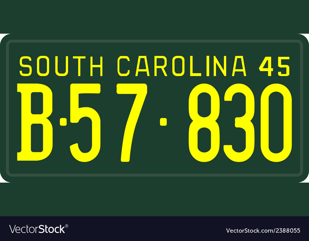 South carolina 1945 license plate vector | Price: 1 Credit (USD $1)