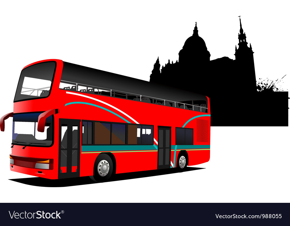 Tour bus company vector | Price: 1 Credit (USD $1)