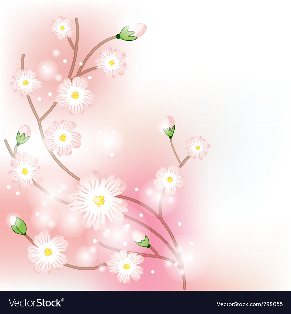 Tree blossom brunch vector | Price: 1 Credit (USD $1)