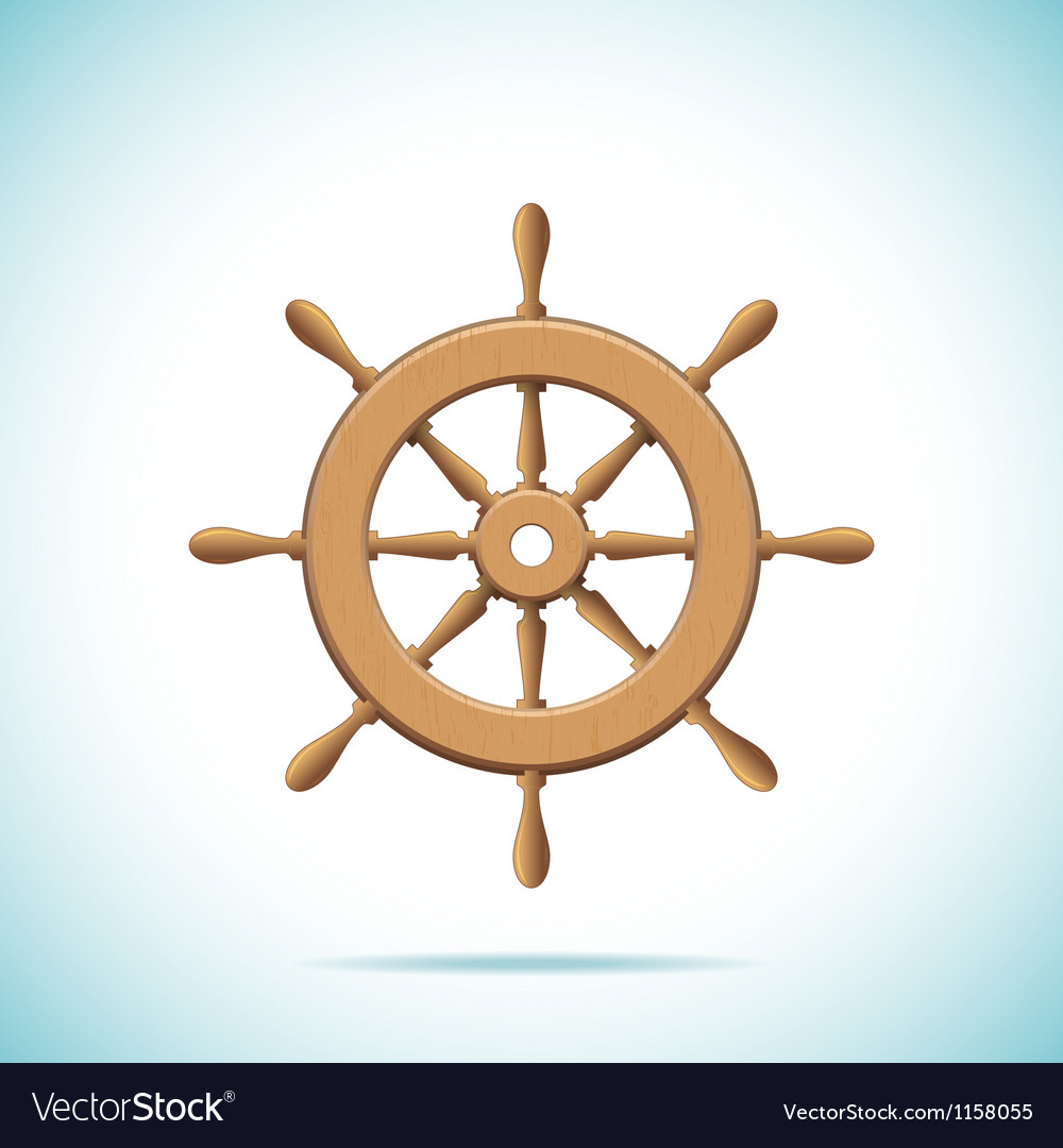 Wooden ship wheel vector | Price: 1 Credit (USD $1)