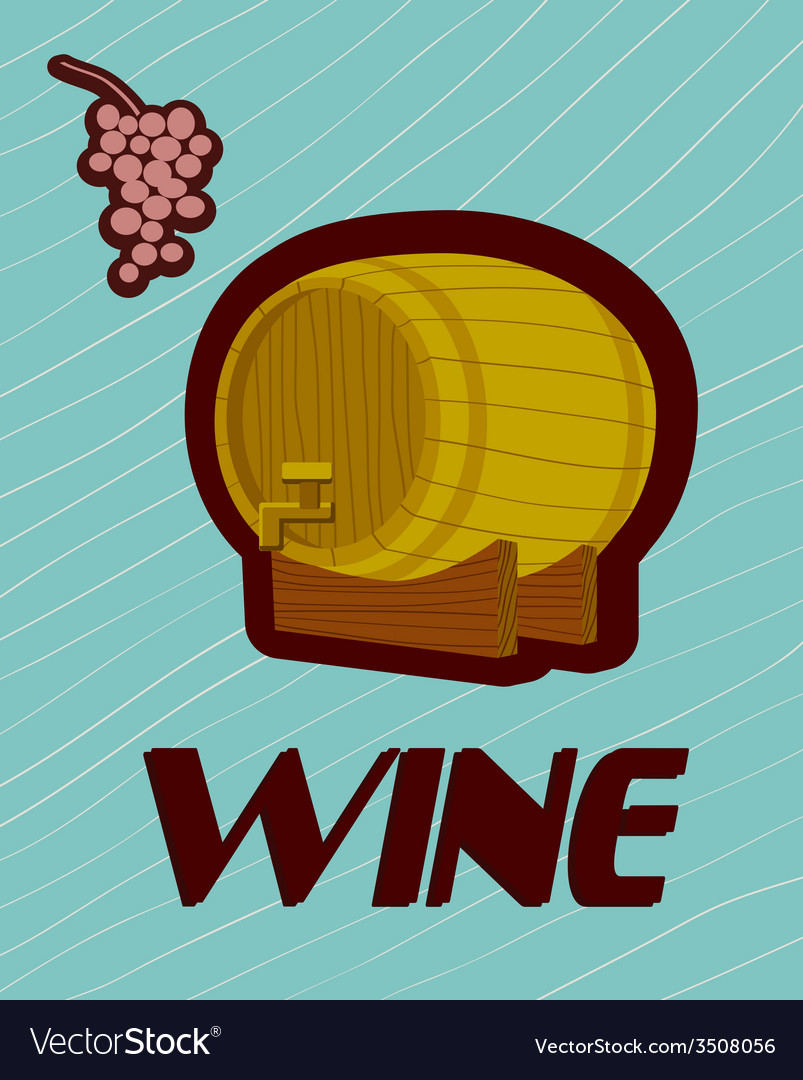 Banner with a barrel of wine vector | Price: 1 Credit (USD $1)