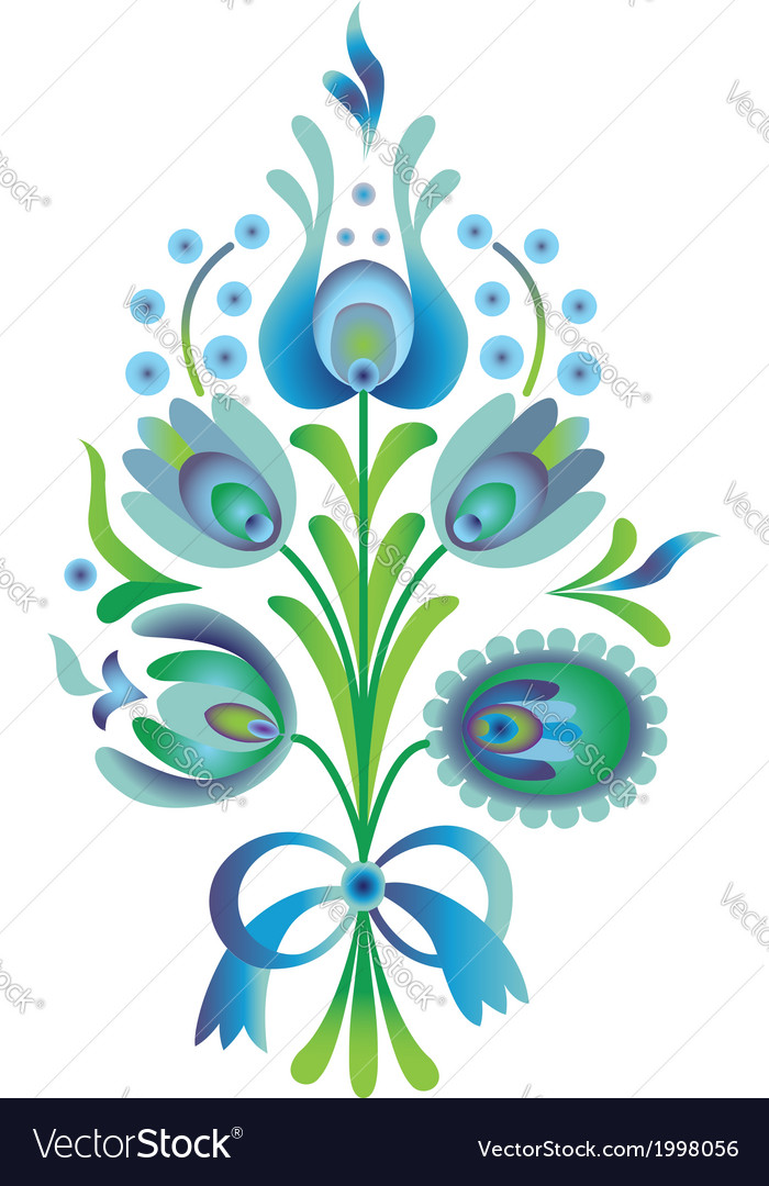 Blue flower vector | Price: 1 Credit (USD $1)