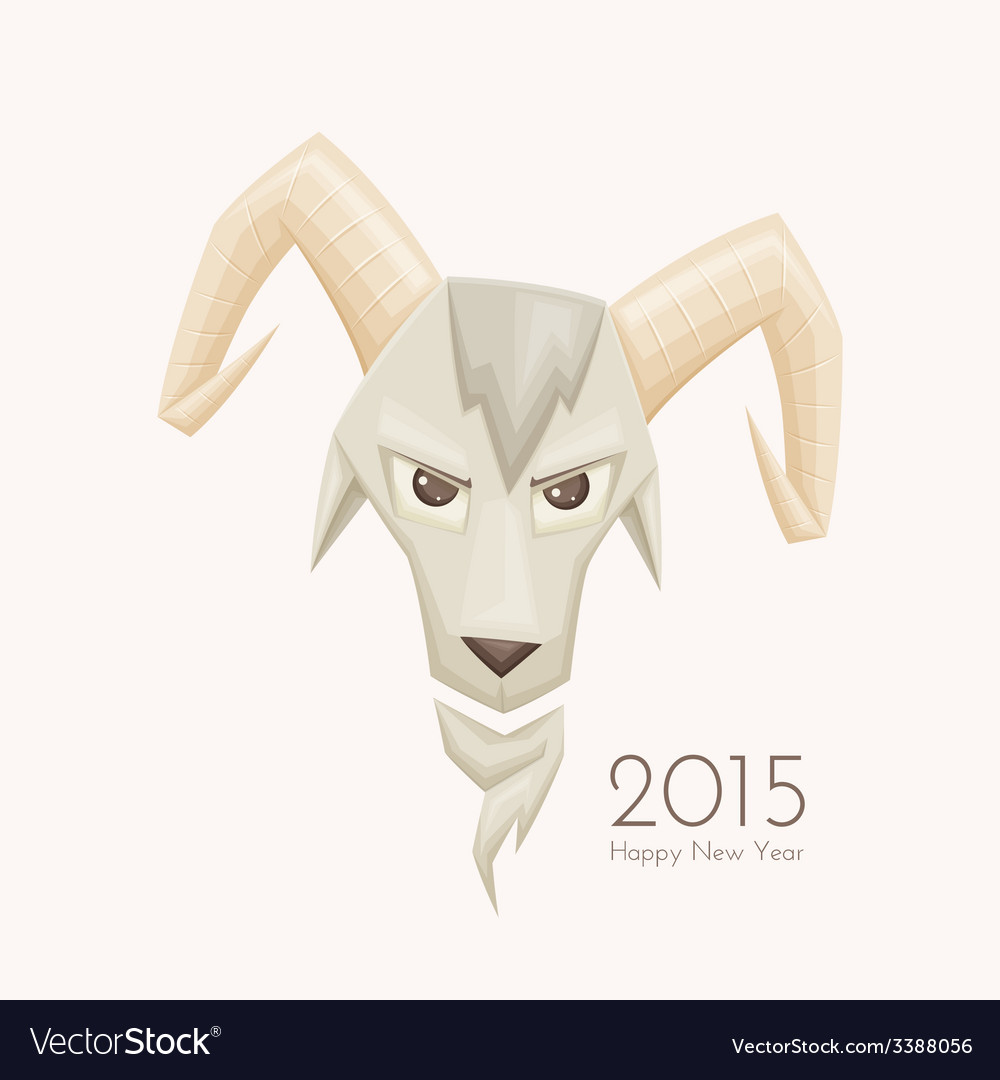 Goat with rounded horns vector | Price: 3 Credit (USD $3)