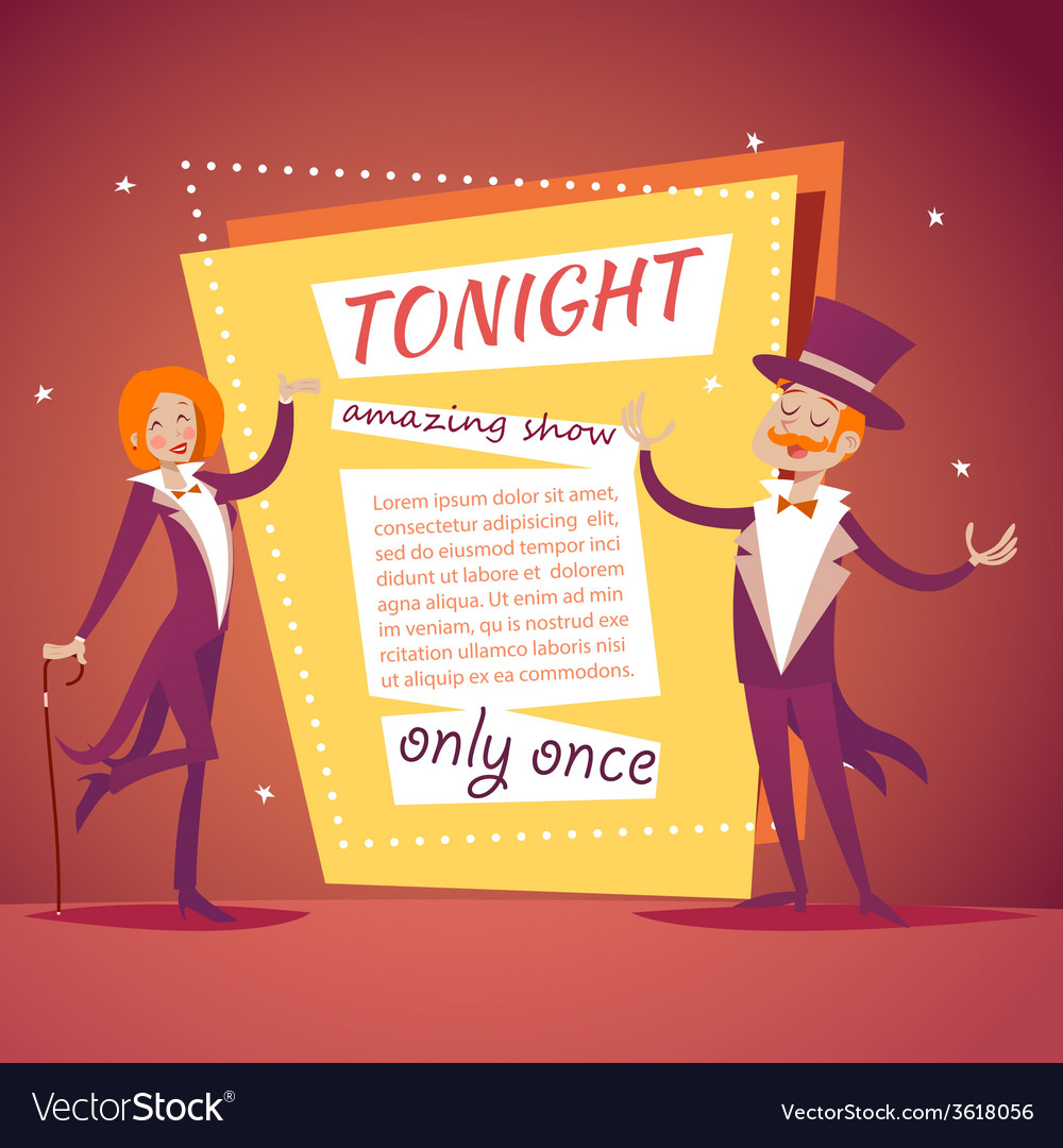 Host lady girl boy man in suit with cane and vector | Price: 1 Credit (USD $1)