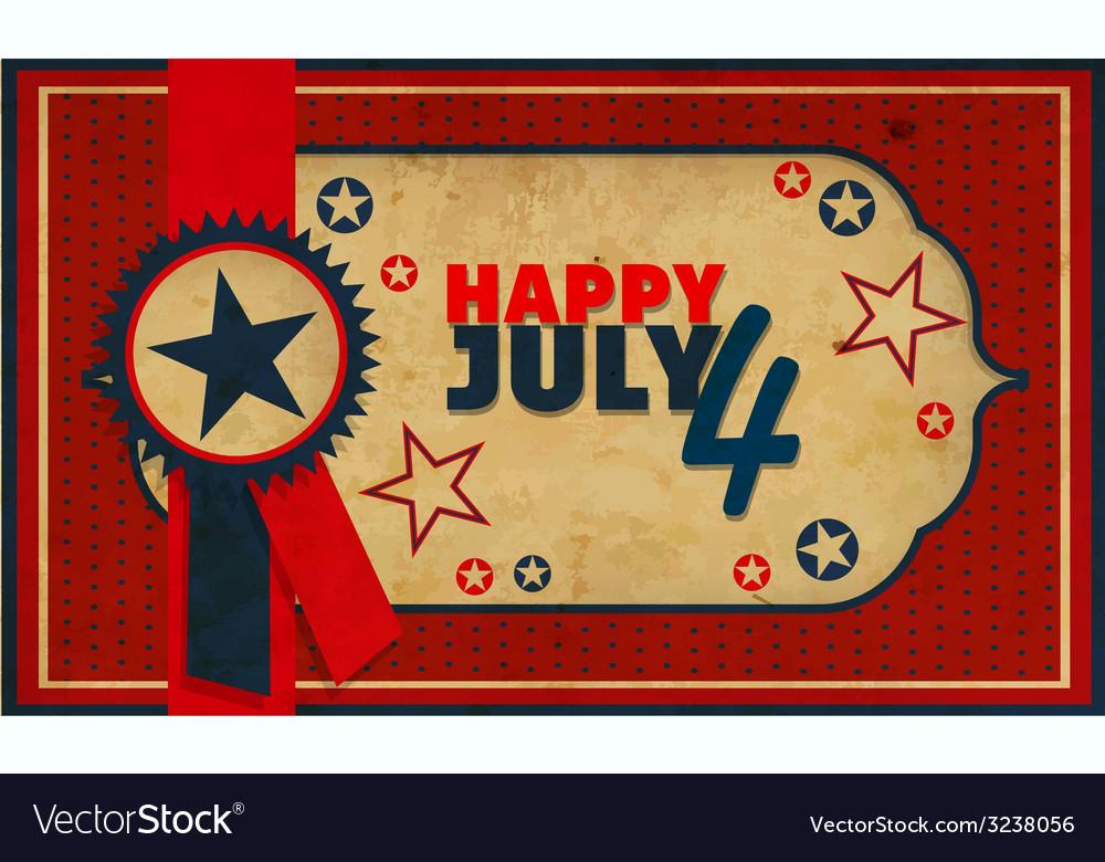 July 4 vector | Price: 1 Credit (USD $1)