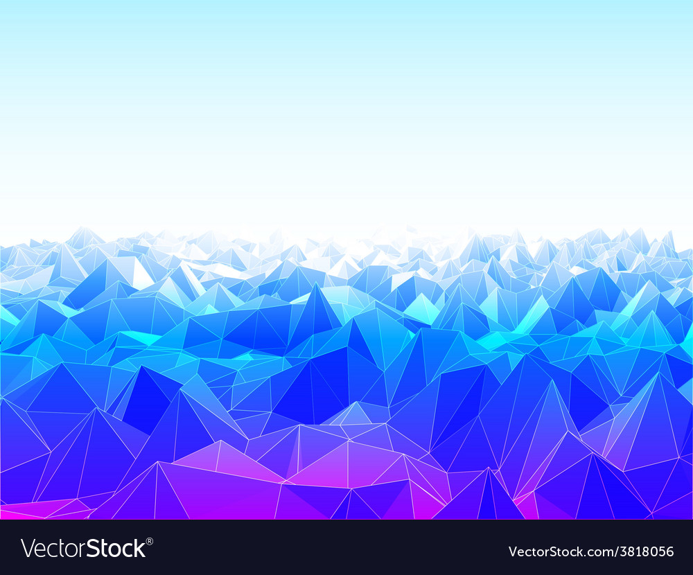 Low poly landscape vector | Price: 1 Credit (USD $1)