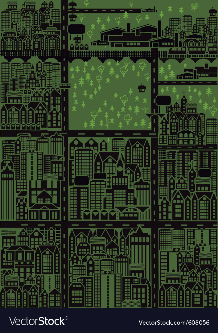 Seamless city map vector | Price: 1 Credit (USD $1)