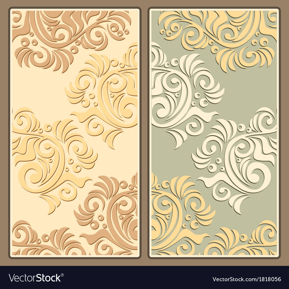 Two decorative backgrounds in pastel colors vector | Price: 1 Credit (USD $1)