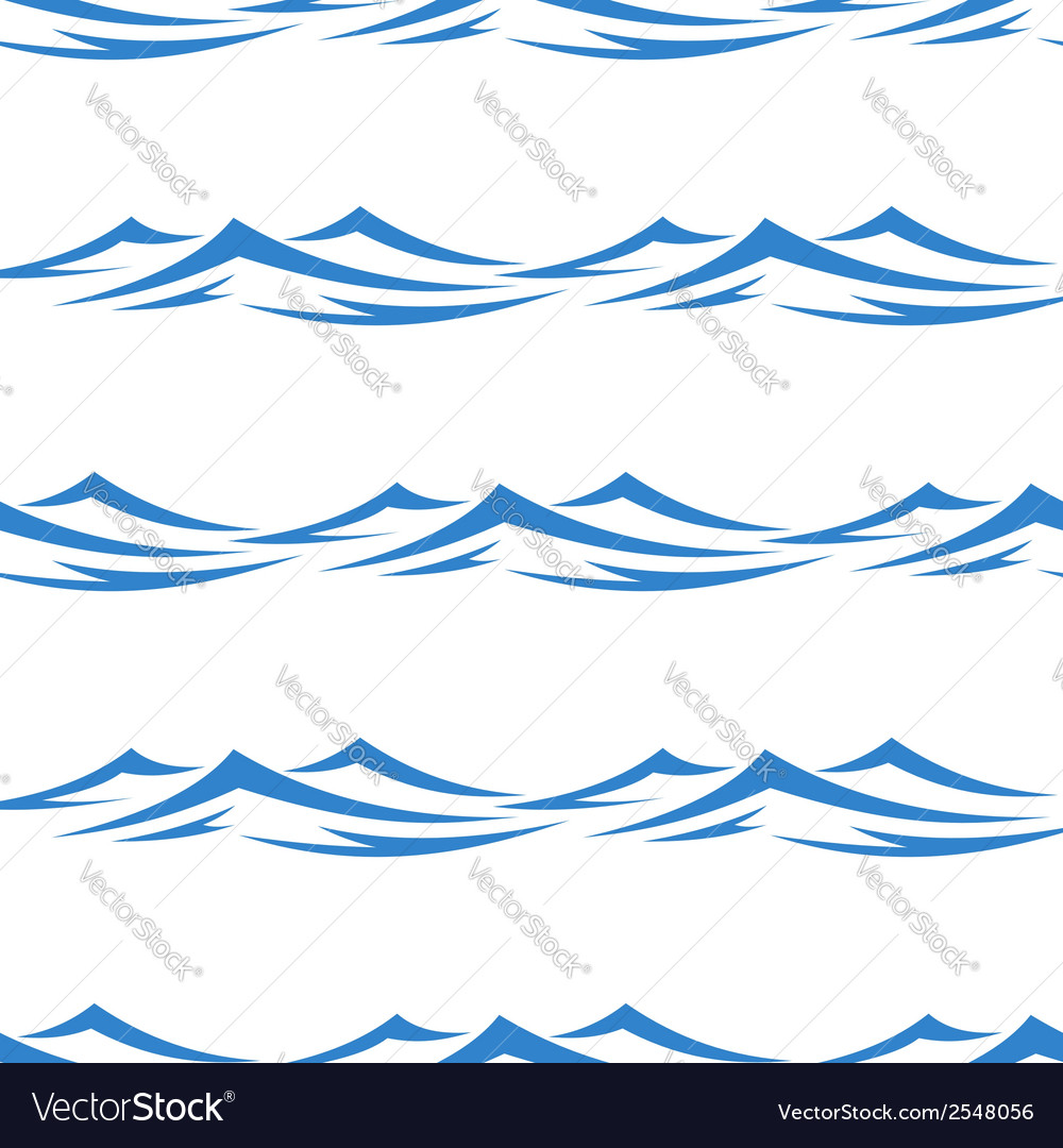 Undulating waves seamless background pattern vector | Price: 1 Credit (USD $1)