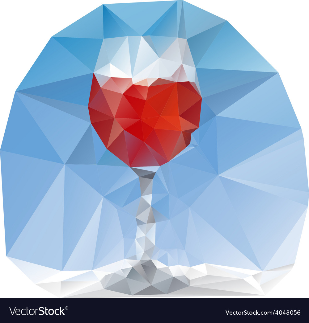 Wine glass polygonal vector | Price: 1 Credit (USD $1)