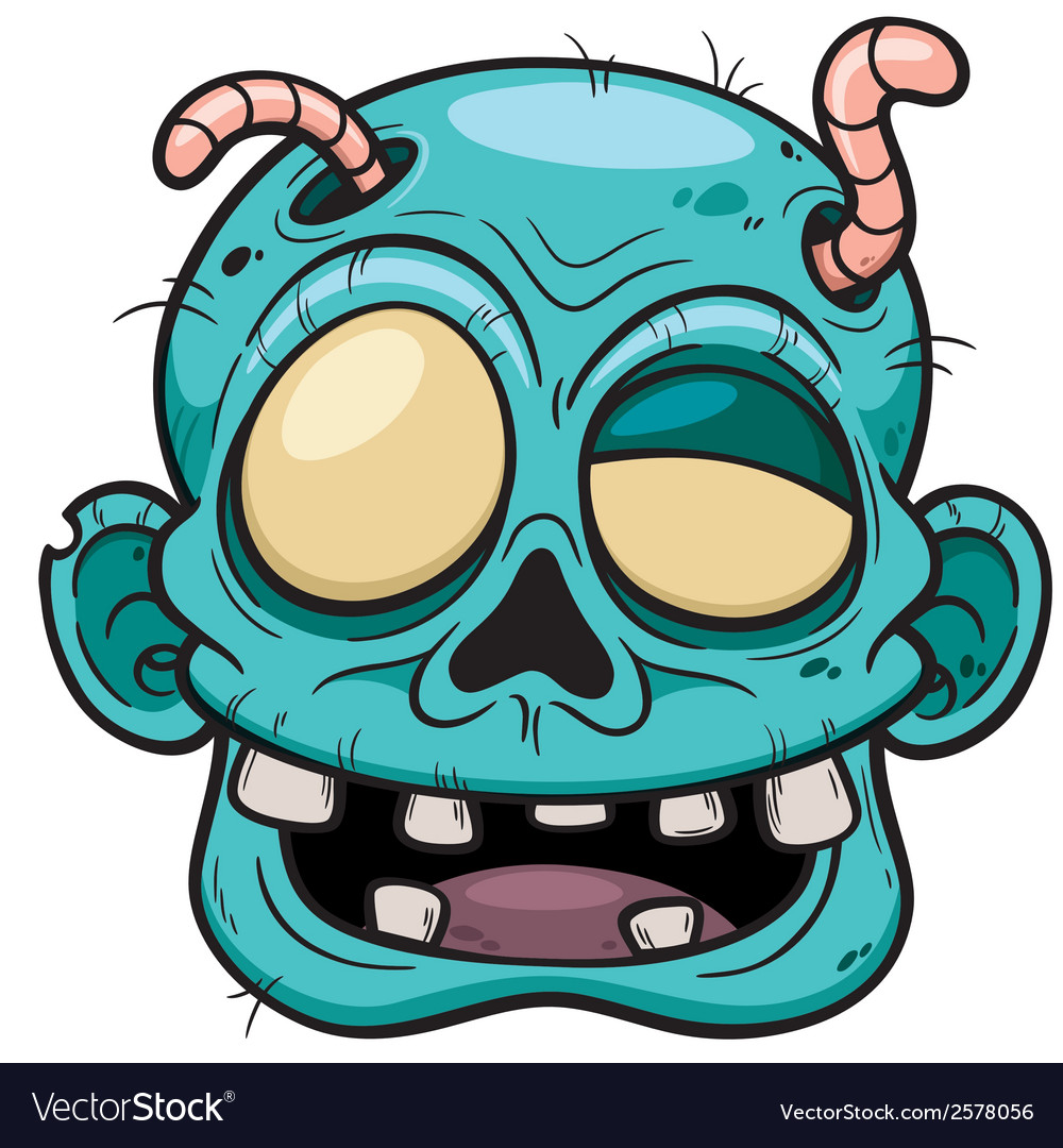 Zombie face vector | Price: 3 Credit (USD $3)
