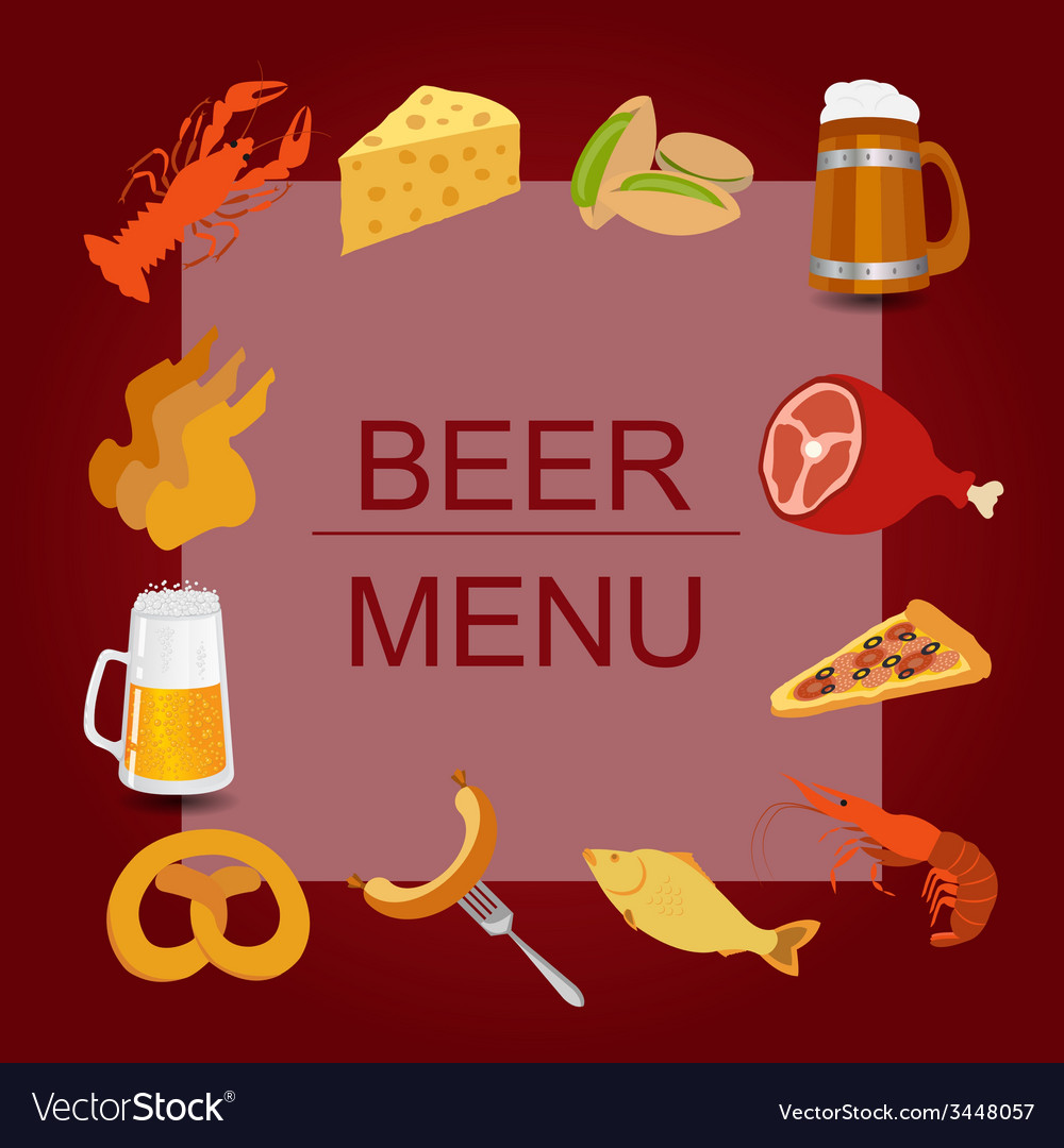 Beer snacks set icons for creating your vector | Price: 1 Credit (USD $1)