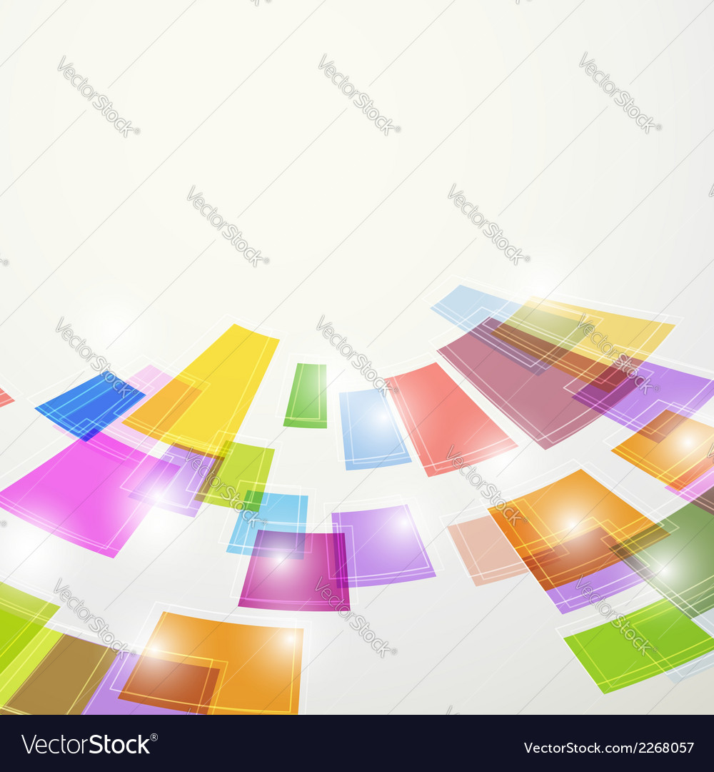 Bright colorful abstract square elements fly vector | Price: 1 Credit (USD $1)