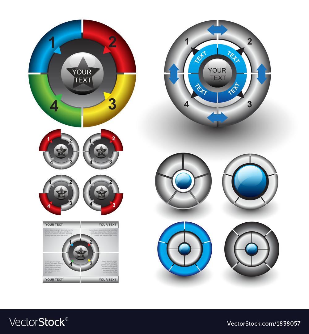 Circle diagrams vector | Price: 1 Credit (USD $1)
