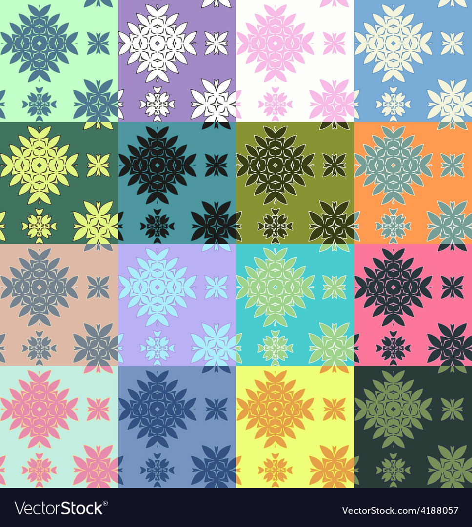 Colorful pattern set vector | Price: 1 Credit (USD $1)