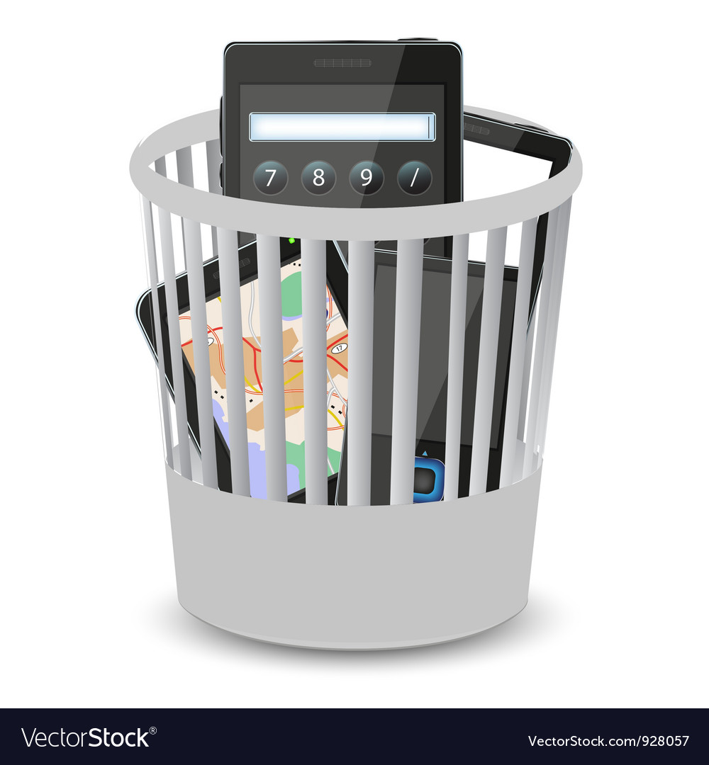 Electronic gagets bin vector | Price: 1 Credit (USD $1)